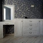 Туалетный столик и комод с рамочными фасадами Сосна Касцина