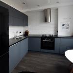 Кухня с суперматовыми фасадами Fenix